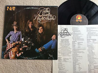 The Deadly Nightshade 1976 U.s. Country Rock Vinyl Lp+Inner*rare Promo Copy*