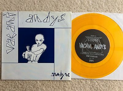 "Dashboard Confessional VACANT ANDYS Anodyne 7"" YELLOW WAX ORIG CHRIS CARRABA.NM"