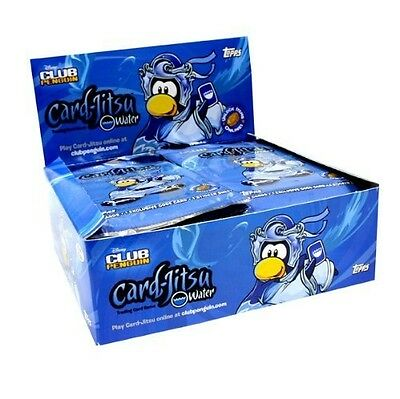 Club Penguin Series 4 Water Trading Cards - 5 Packs - Sealed Blue Collection