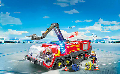 PLAYMOBIL® 5337 Airport Fire Engine with Lights and Sound - S&H FREE WORLDWIDE