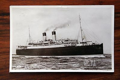 Posted 1920 Photo Postcard Rp Rms Metagama Canadian Pacific Line Steam Ship