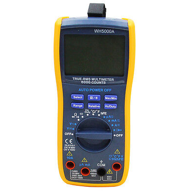 Digital Multimeter TURE-RMS Multimeter 6000 Counts Multifunktion Auto Reichweite