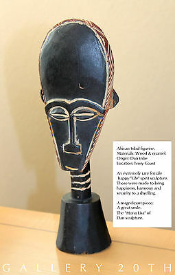RARE MID CENTURY AFRICAN CARVED TRIBAL FETISH! Statue Art Wood Sculpture Vtg 50s