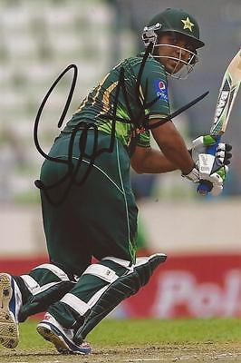 PAKISTAN: SAMI ASLAM SIGNED 6x4 ODI ACTION PHOTO+COA