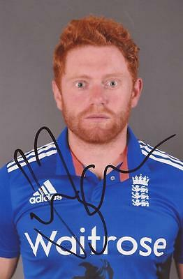 ENGLAND: JONNY BAIRSTOW SIGNED 6x4 ODI PORTRAIT PHOTO+COA