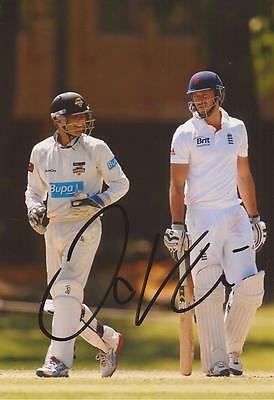 ENGLAND: JAMES VINCE SIGNED 6x4 TEST ACTION PHOTO+COA