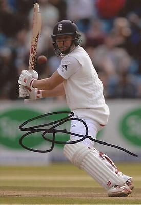 ENGLAND: GARY BALLANCE SIGNED 6x4 TEST ACTION PHOTO+COA