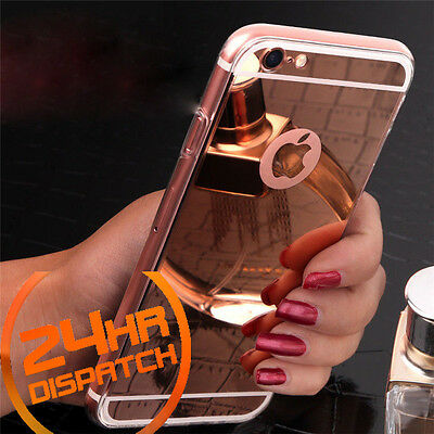 Luxury Ultra-thin TPU RoseGold Mirror Metal Case Cover for iPhone 7 Plus {nt120