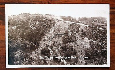 Posted 1938 Photo Postcard Rp Rednal The Climb Up Bilberry Hill