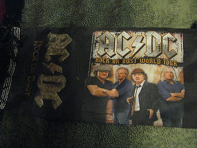 Ac Dc 2015 Rock Or Bust World Tour Scarf !!    5 1/2 X 54 Inc Long