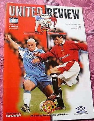 Manchester United  V  Walsall 1997-98 F.a.cup