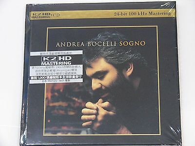Andrea Bocelli Sogno K2HD CD NEW Japan Limited Numbered