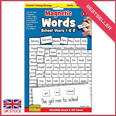 National Literacy Strategy Magnetic words and board for Years 1 & 2 Key Stage 1