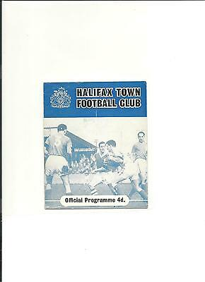 1960/61 FA Cup  2nd round replay  Halifax v Crewe