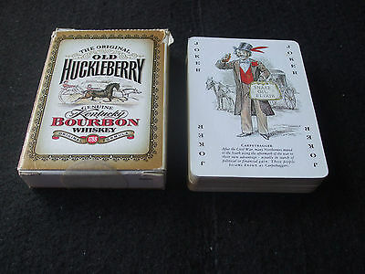 Boxed Deck of Old Huckleberry Bourbon Promotional Poker Size Playing Cards