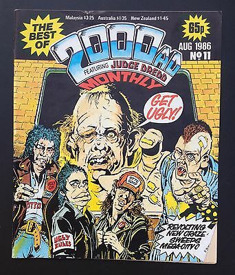 The Best of 2000ad Featuring JUDGE DREDD Monthly Comic Magazine # 11 Aug 1986