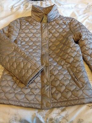 Girls Next Quilted Coat Age 13 Years Beige