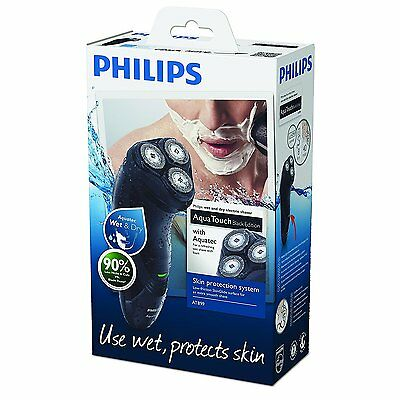Philips AquaTouch AT899 Wet and Dry Men's Electric Shaver Black Waterproof *NEW*