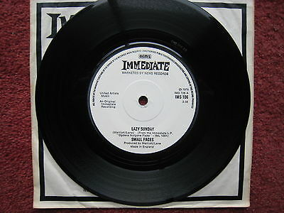 "Small Faces - Lazy Sunday. 1976 7"" psych-rock single. EX"