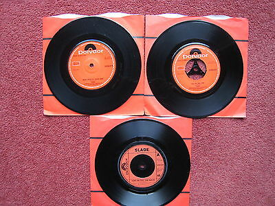 """3x Slade 7"""" singles in company sleeves. All NM"""