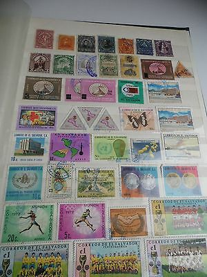 el salvador mainly used selection of 65+ stamps