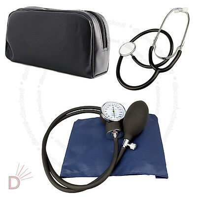 Sphygmomanometer Blood Pressure Monitor + Stethoscope Medical New Kit UKDC