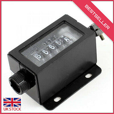Mini Mechanical 5 Digit Number Arithmometer Hand Tally Counter Black