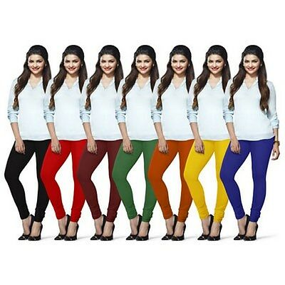 Wholesale Lot 7 Pcs Women Churidar Legging Cotton 4 Way Yoga Pants For Kurti Top