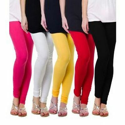 Wholesale Lot 5 Pcs Women Churidar Legging Cotton 4 Way Yoga Pants For Kurti Top