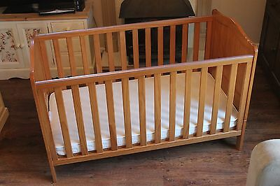 Mothercare Wooden Cot / Cotbed and mattress