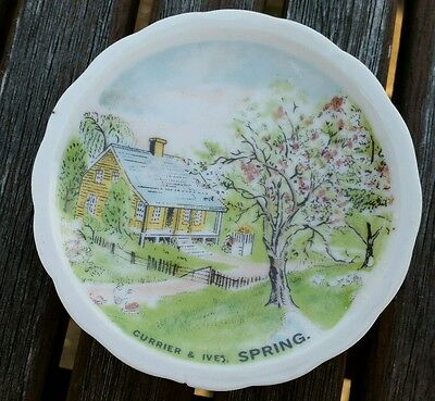 Currier and Ives spring, summer and autumn 8cm plate