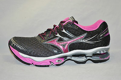 MIZUNO WAVE CREATION 14 womens running shoes Size 6 NEW BLACK PINK GREY