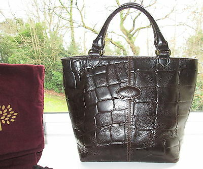 Authentic Vintage Mulberry Brown Congo Leather Hellier Hand Bag & Dustbag
