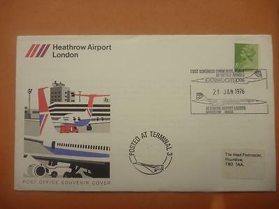 Concorde 1st Scheduled Commercial Flight 21 Jan 1976 Cover