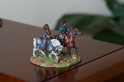 28mm Napoleonic French General & Hussar Aide de Camp PAINTED
