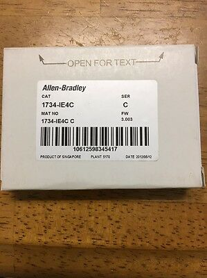 NEW ALLEN-BRADLEY 1734-IE4C /C POINT I/O 4-Ch High Density Current Input