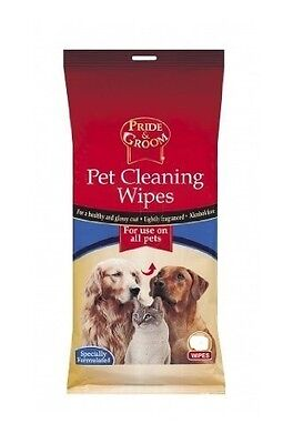 Pack Of 100 Pet Cleaning Wipes - 100 Wipes - Use on All Pets Alcohol Free