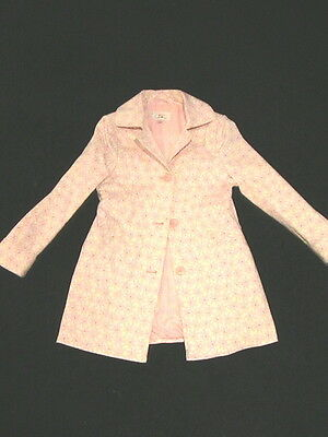 Designer:NEXT Winter White & Pink Dress/Occassion Coat-7-8-Christmas/Party