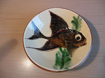 Puigdemont Art Pottery Fish Bowl / Wall Hanging