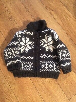 Boys Thick Winter Cardigan 9-12 Months