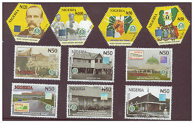 2016 Nigeria -NEW ISSUE CENTENARY STAMPS Part 2 - HOLOGRAMS/HEXAGONAL -Set of 10