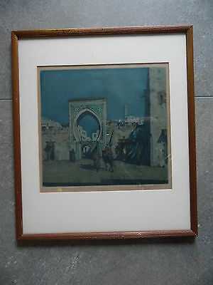 T. Frantisek Simon 'Nocturne in Tangier'  Signed LE Etching 1925