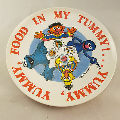Vintage Sesame Street Muppets Childs plate 1977 Alphabet Yummy Tummy peter pan