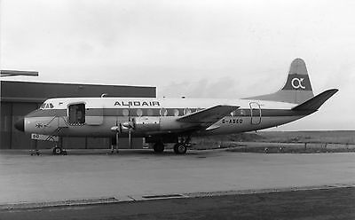 ALIDAIR, Vickers Viscount 831, G-ASED; original 'not period' photo