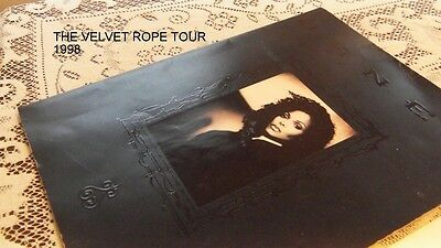 Janet Jackson The Velvet Rope Tour Book W Signed Autograph & 3' Poster/WAS $300