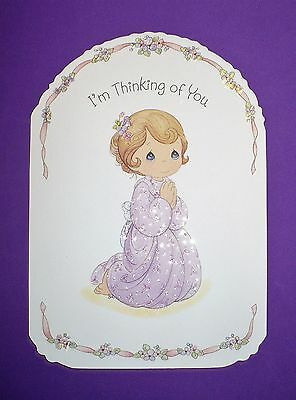 Vintage Hallmark Precious Moments Thinking Of You Greeting Card Envelope Mint