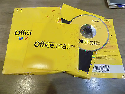 Microsoft Office Home & Student 2011 Mac