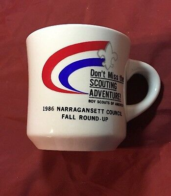 Vintage 1986 Boy Scouts Fall Round Up Scout Mug