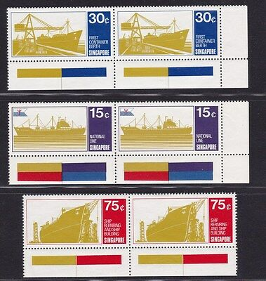 e Malaya Singapore MNH** Stamps Ships in Pairs with Margins High CV