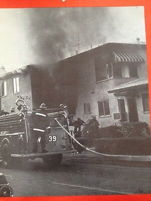 Vintage Fire Engine Fire Truck Ad Advertisement Fire Fighter FR44